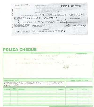 cheque pan